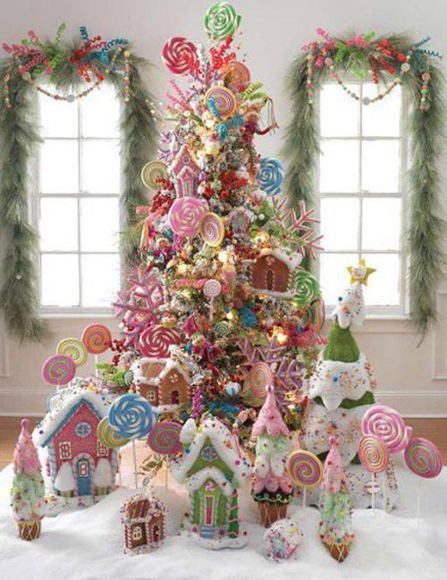 Adorable Candy Theme Christmas Tree