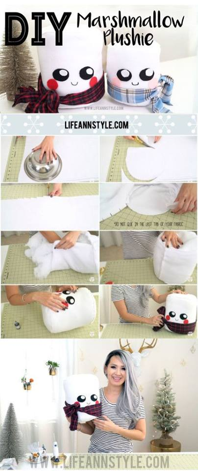 Adorable DIY Cute Marshmallow Plushie