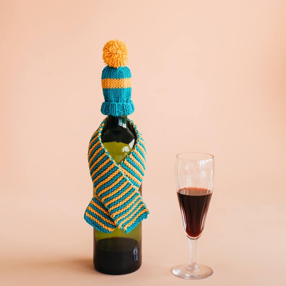 Adorable DIY Wine Koozie