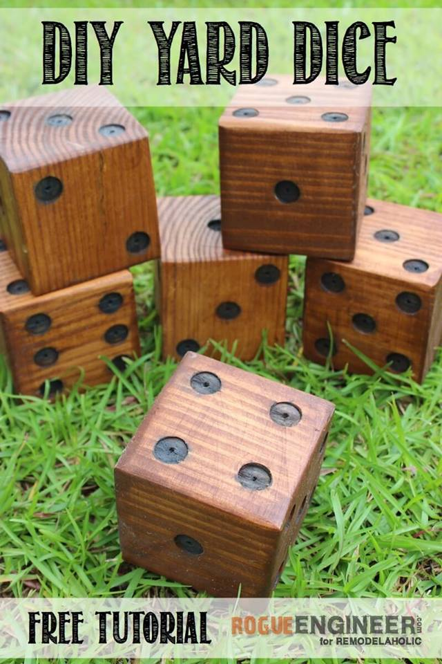 Amazing DIY Yard Dice