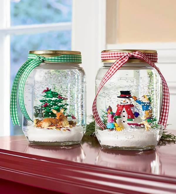Awesome DIY Snow Globe Christmas Gift