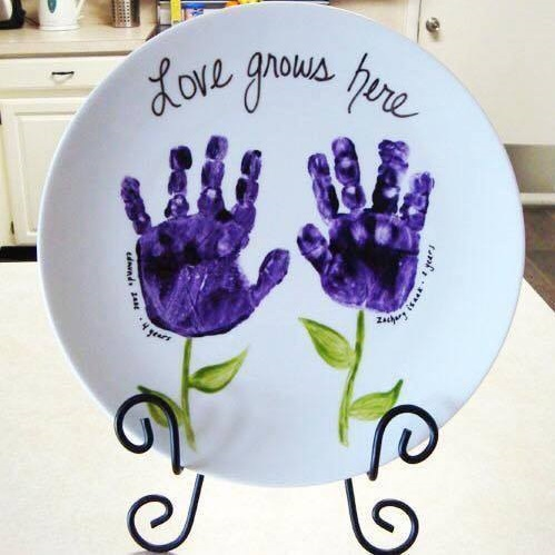 Awesome Hand Impression Plate As A Tree