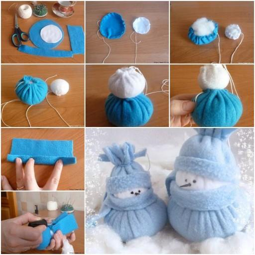 Awesome Handmade Snowman Tutorial