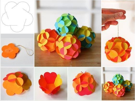 Beautiful Paper Flower Ornaments
