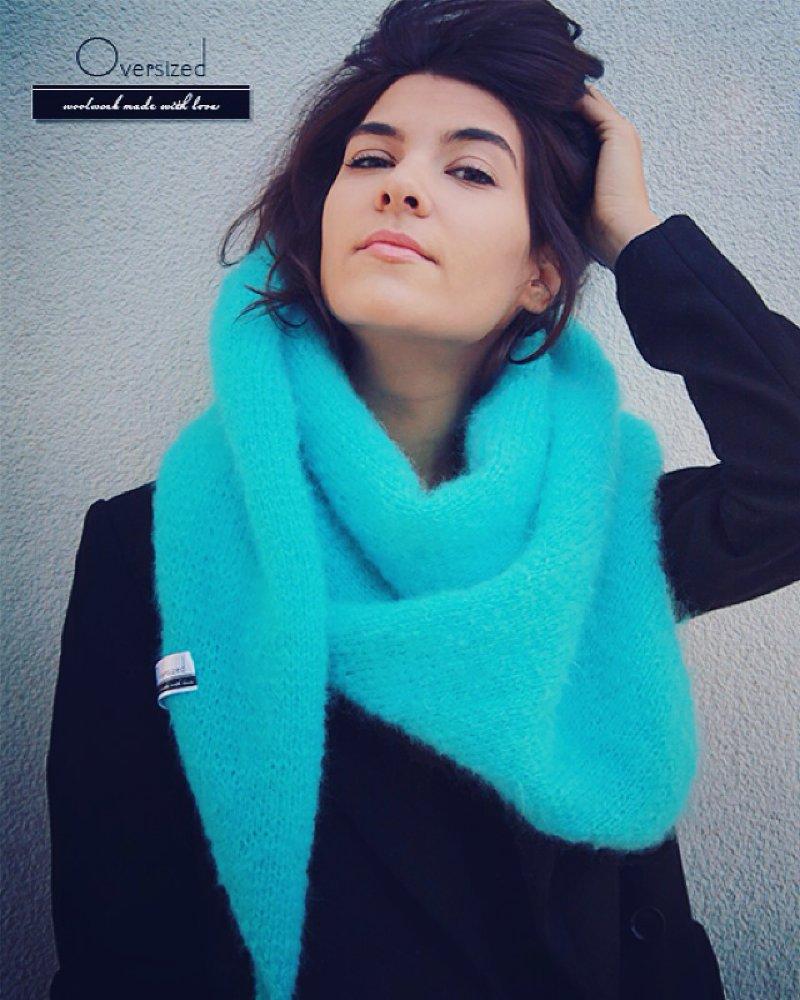 Bright Blue Woolen Scarf
