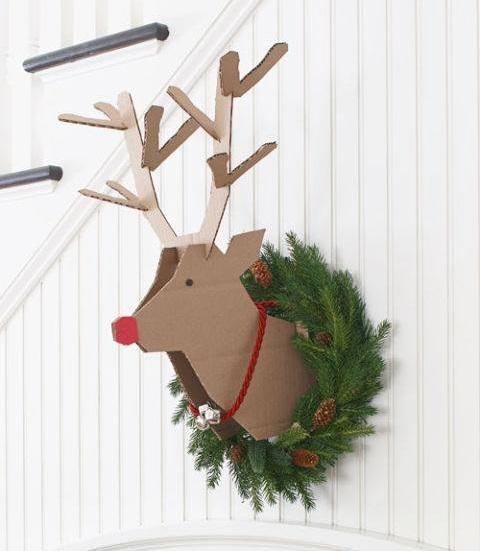 Cardboard Recycled Reindeer