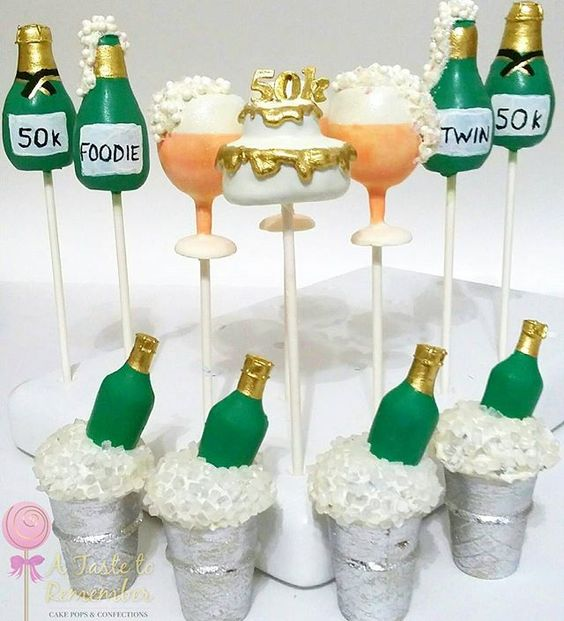 Champagne Bottles On Ice Sugar Cookies