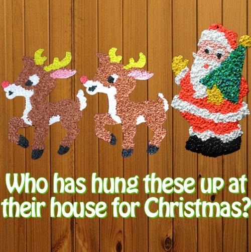 Charming Reindeer And Santa