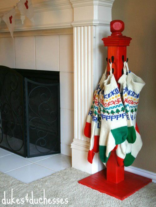 Cool Stocking Holder Idea