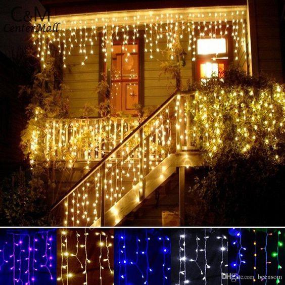 Curtain Style LED Light Outdoor Decor Idea