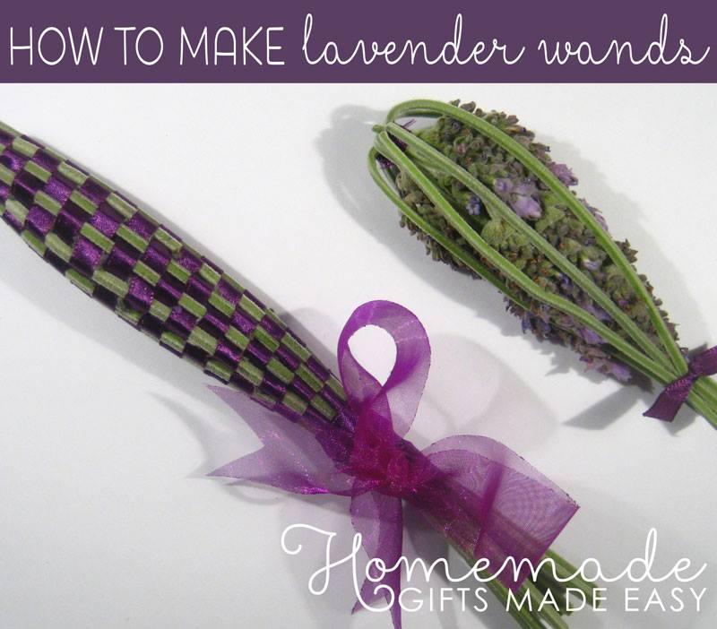 Cute DIY Lavender Wands