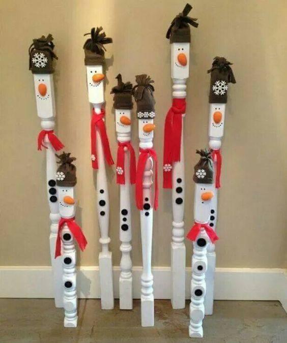Cute DIY Spindle Snowman