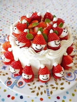 Cute Little Santa Cake Decoration