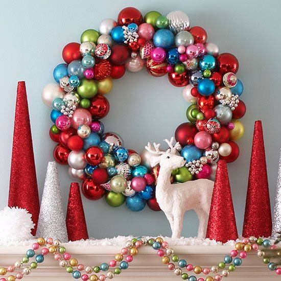 DIY Colorful Bulb Ornaments Wreath And Tree
