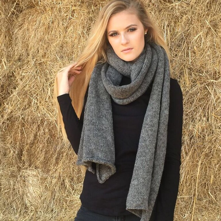 Dark Grey Extra Long Woolen Scarf