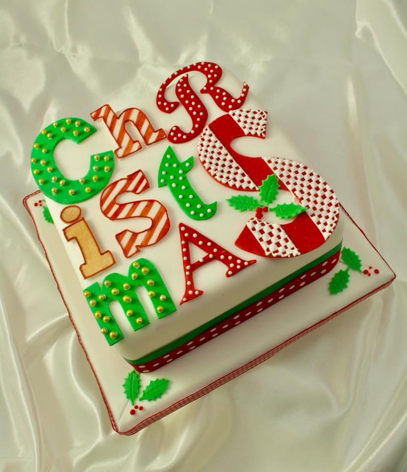 Dashig Christmas Letter Cake