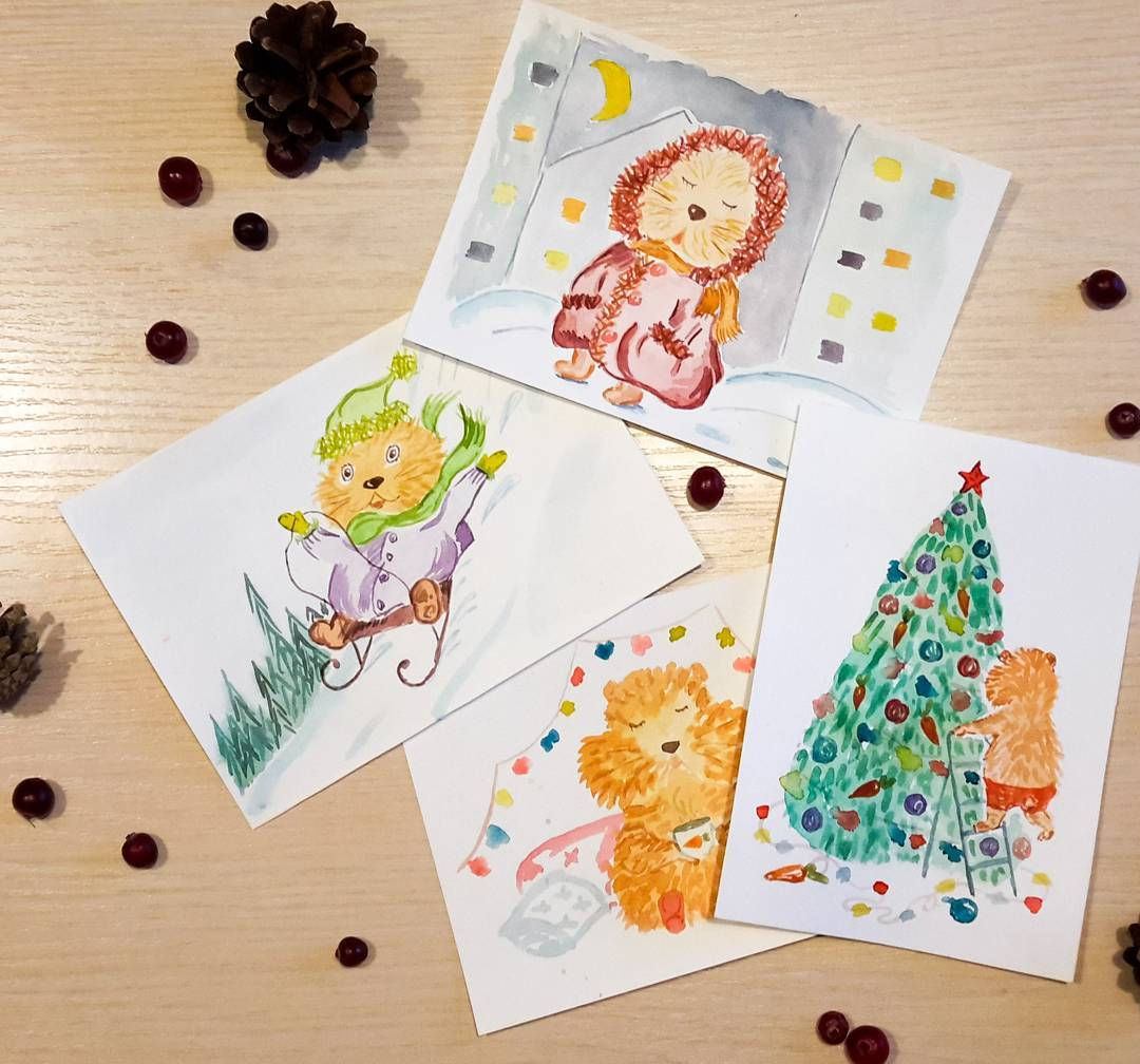 Dashing Handmade Paper Cards For Holidays
