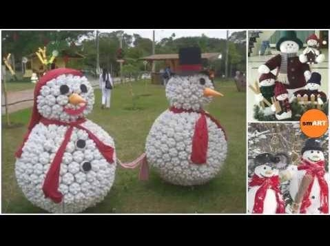 Dashing Snowman For Outdoor Decoration