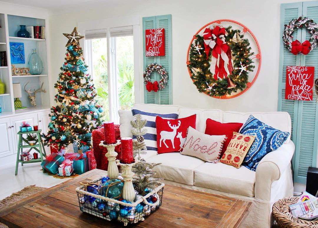 Dreamy Red, Blue And White Home Decor Ideas