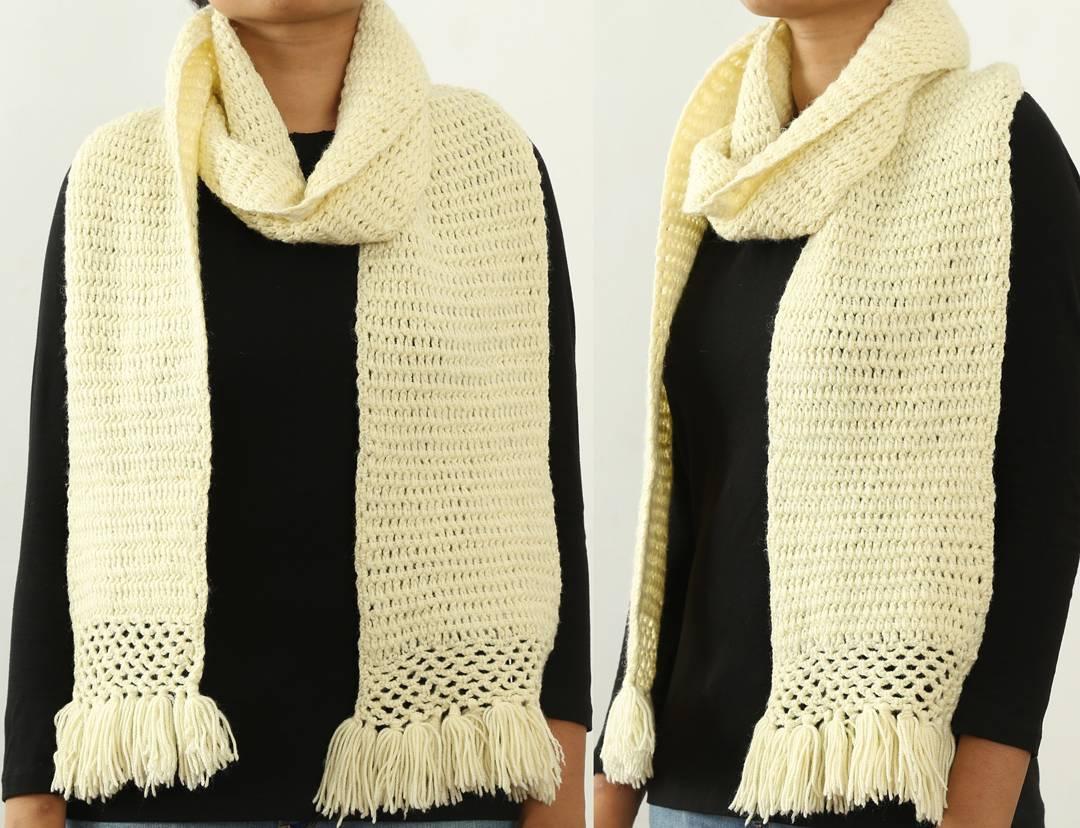 Easy Rectangular Crochet Scarf