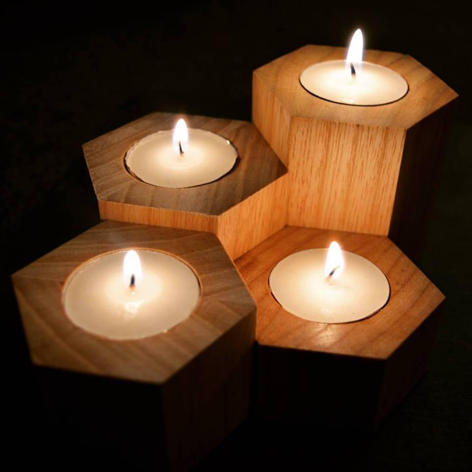 Exclusive Hexagonal Candles