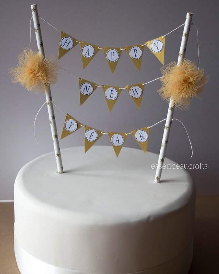 Exclusive New Year Cake With Pom Pom