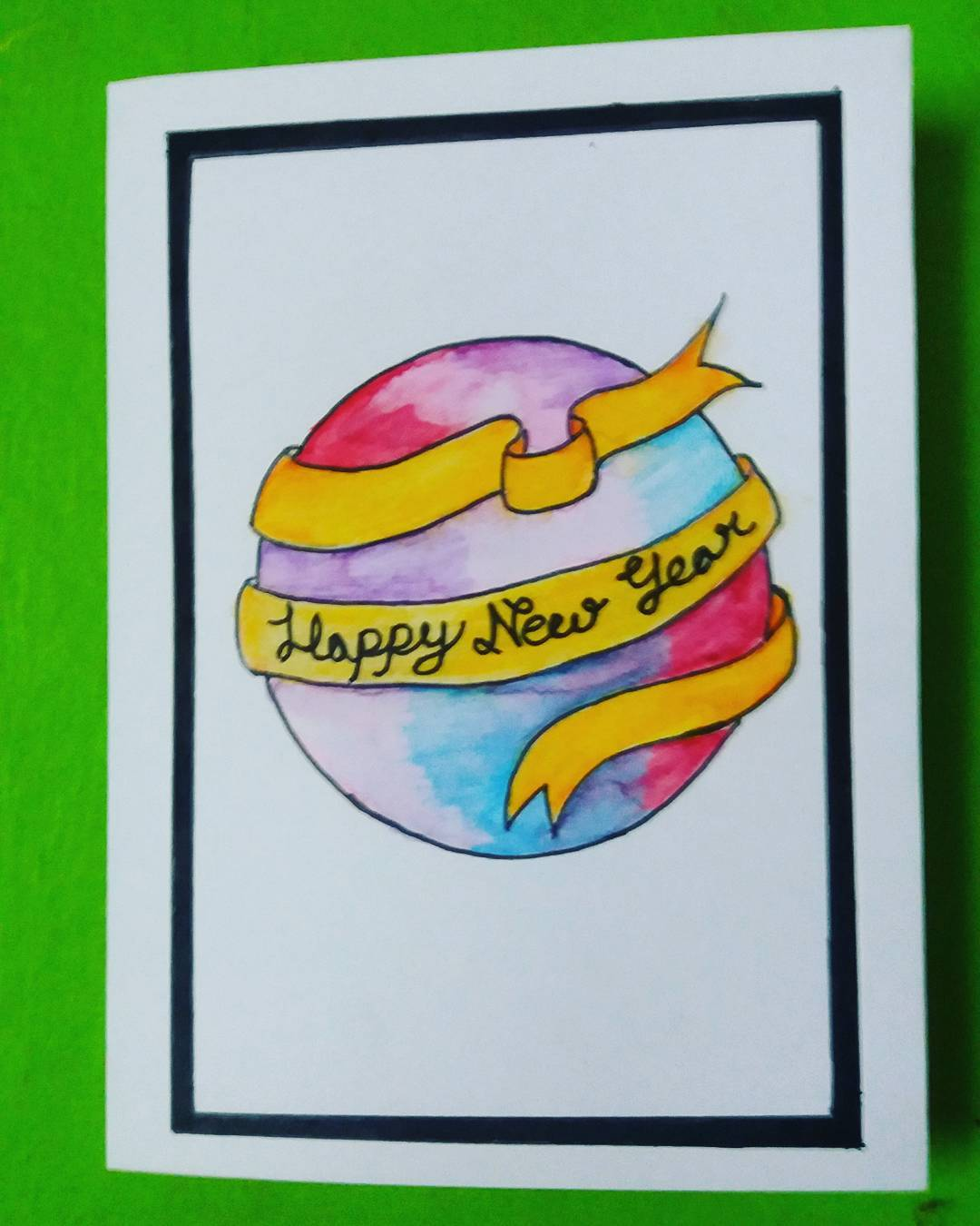 Eye-Catching Colorful New Year Card