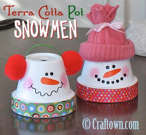 Fabulous Terra Cotta Pot Snowman