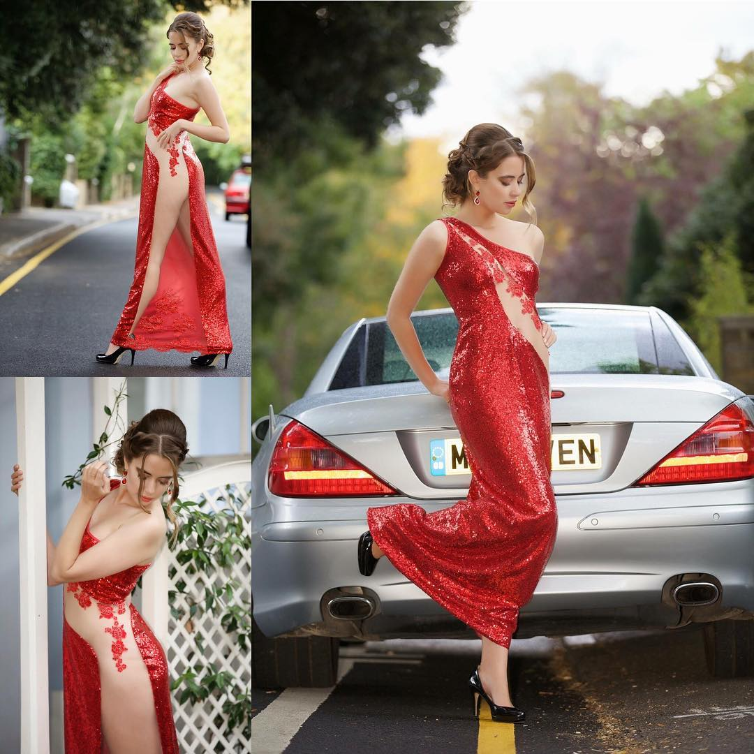 Fantastic Red One Shoulder Sequin Maxi Dress Perfect For New Year Party