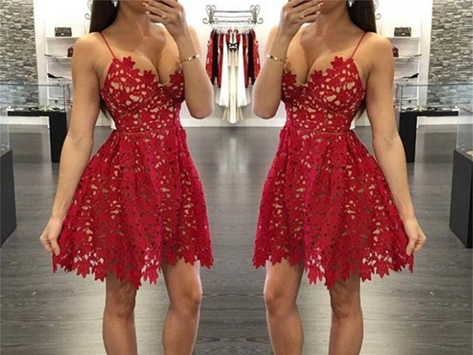 Fashionable Red Short Party Dress
