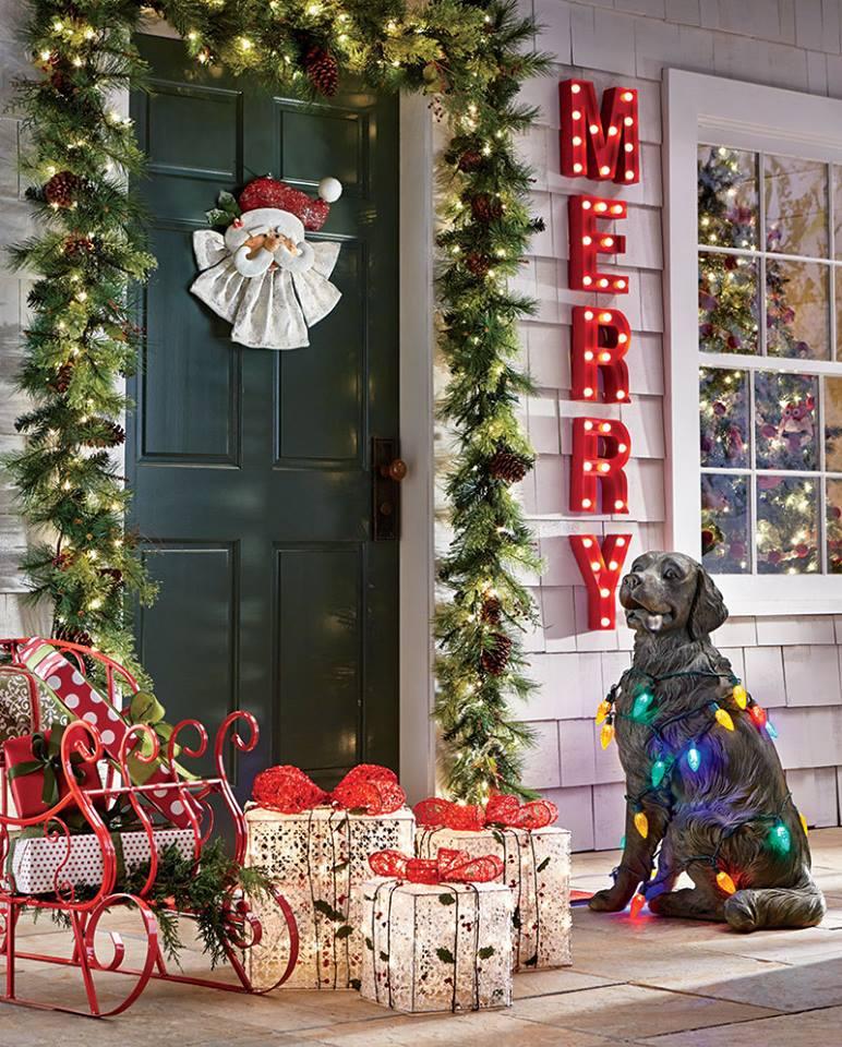 Fresh Garland, Santa Wreath With Dog