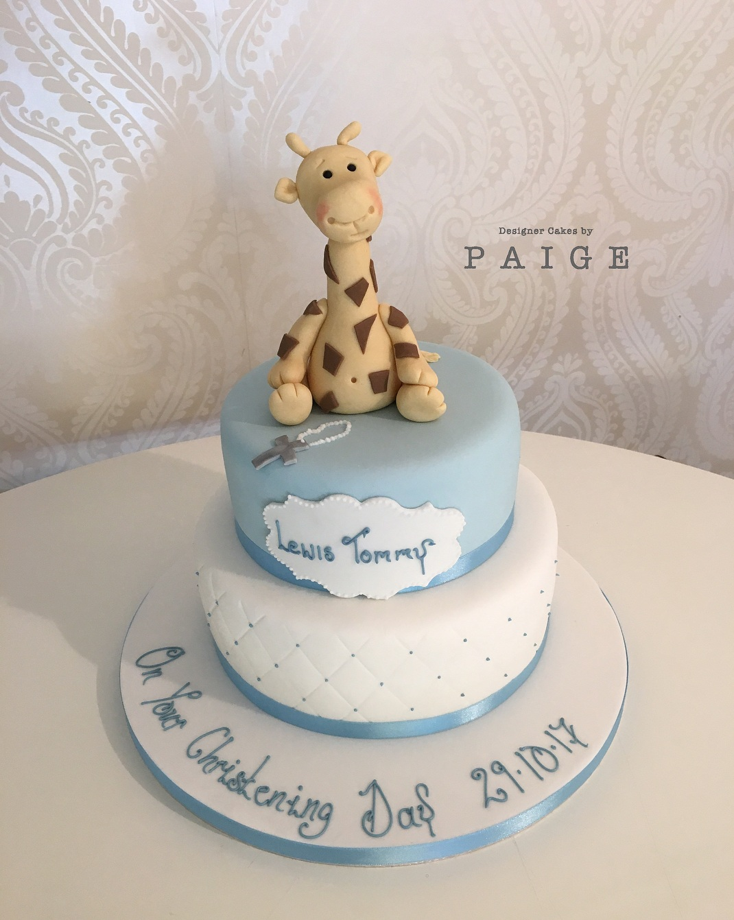Giraffe Theme Christmas Cake