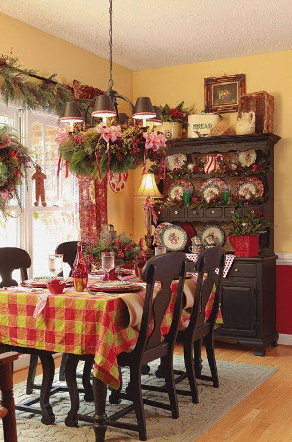 Glamorous Dinning Room Decor Idea At Christmas