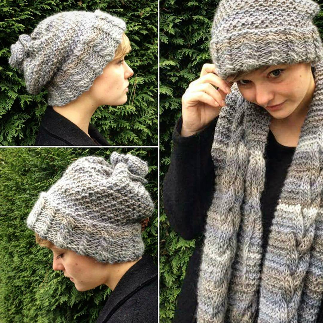 Glamorous Woolen Knit scarf With Matching Cap