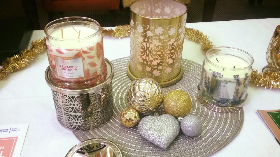 Golden And Silver Candle Decor