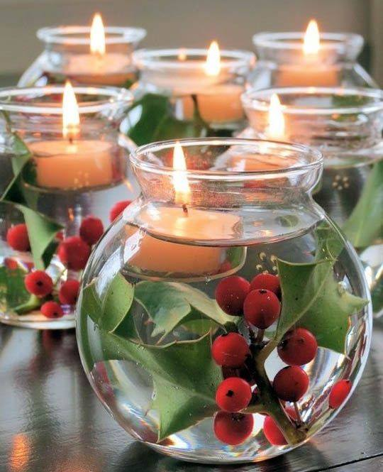 Gorgeous Floating Candles In Rond Bowl