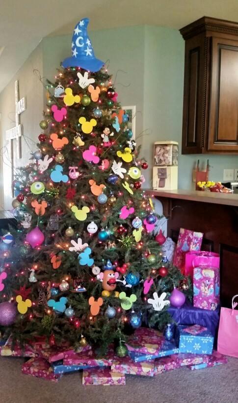 Graceful Disney Themed Christmas Tree