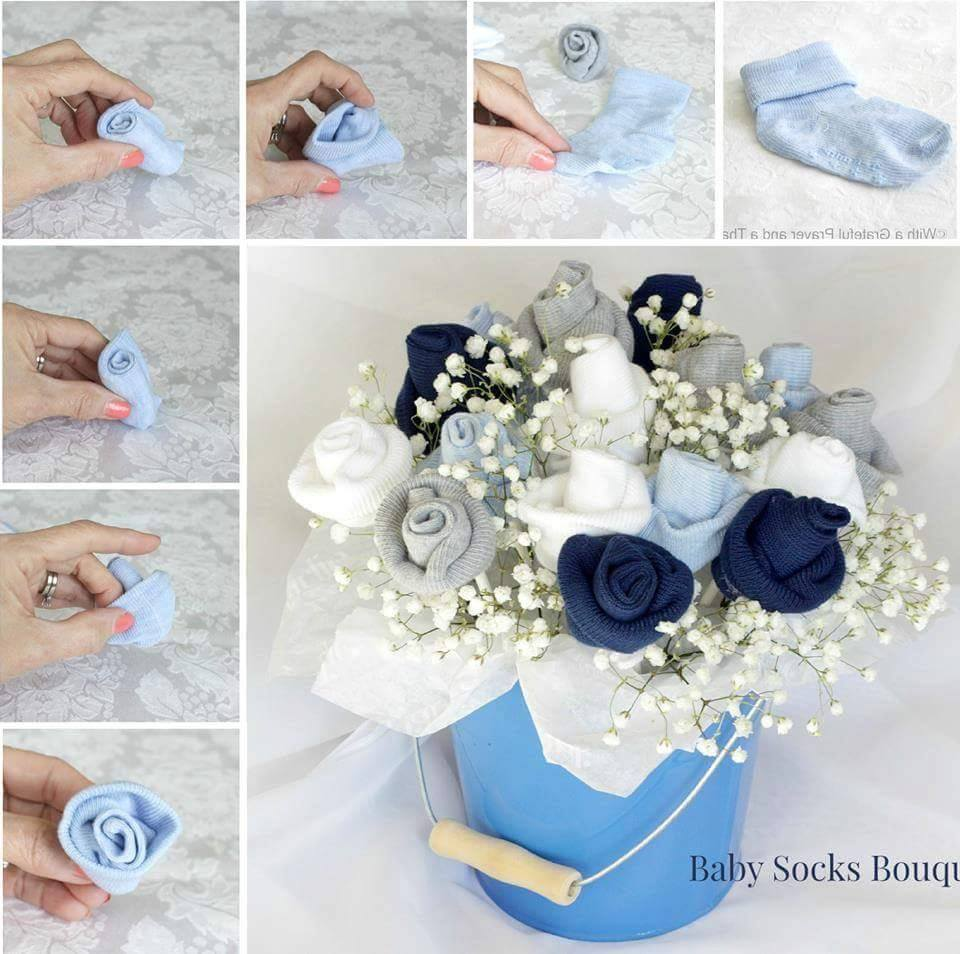 Innovative Baby Socks Bouquet