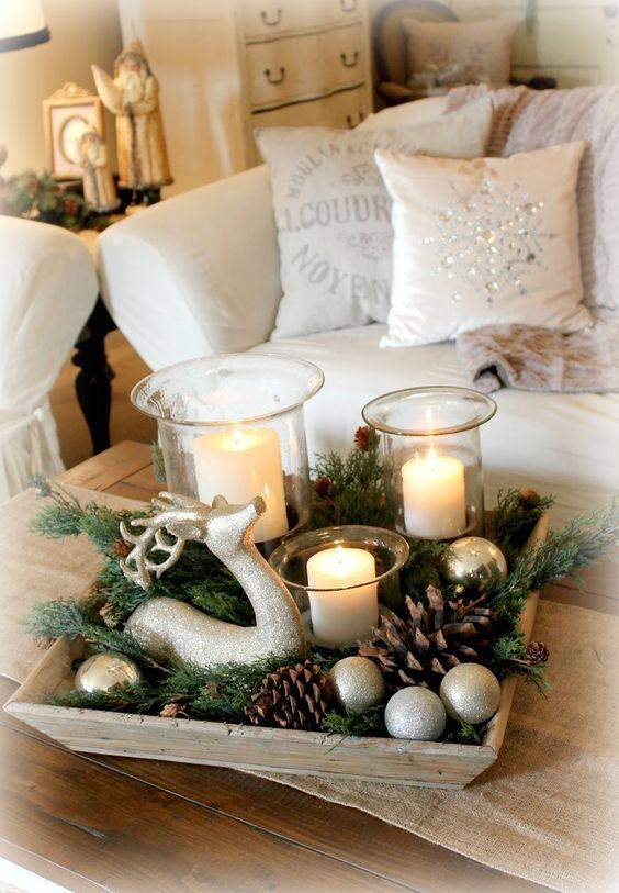 Joyful Candle Decoration Idea