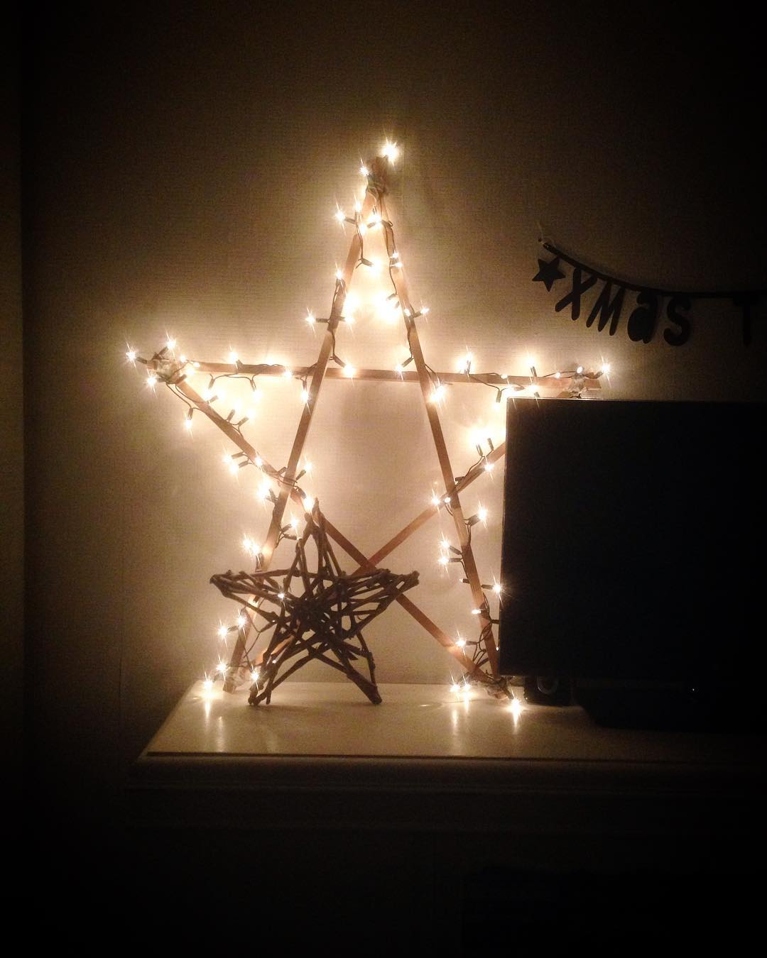 Light Is Decorated In Form Of Star