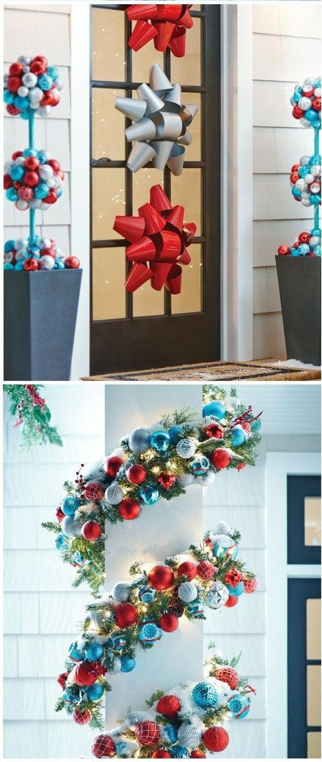 Lovely Frosty Blues And Silvers Door Decoration