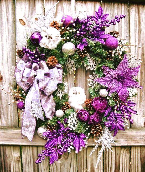 Lovely Purple Wreath For Christmas