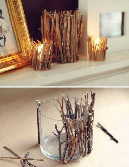 MArvelous DIY Twig Candle Holder For Christmas