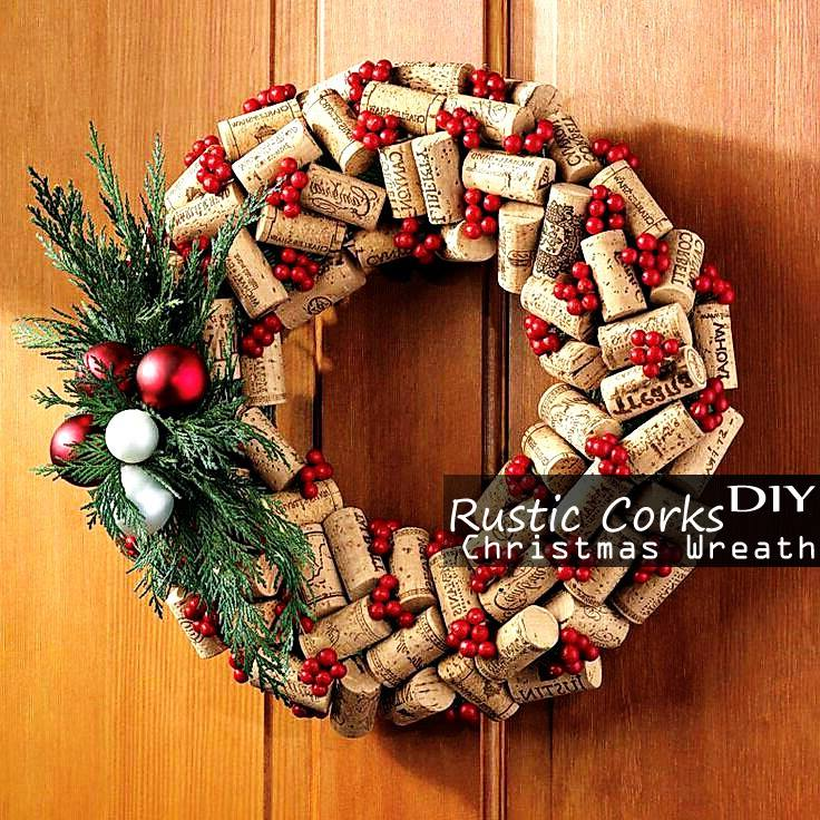 Marvelous Rustic Corks DIY Christmas Wreath
