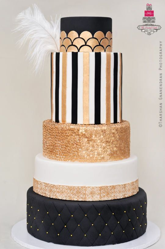 Mind-Blowing Golden & Black Cake