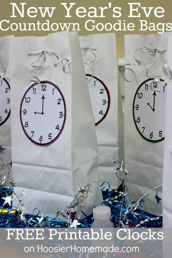 Mind-Blowing New Year's Eve Countdown Goodie Bags