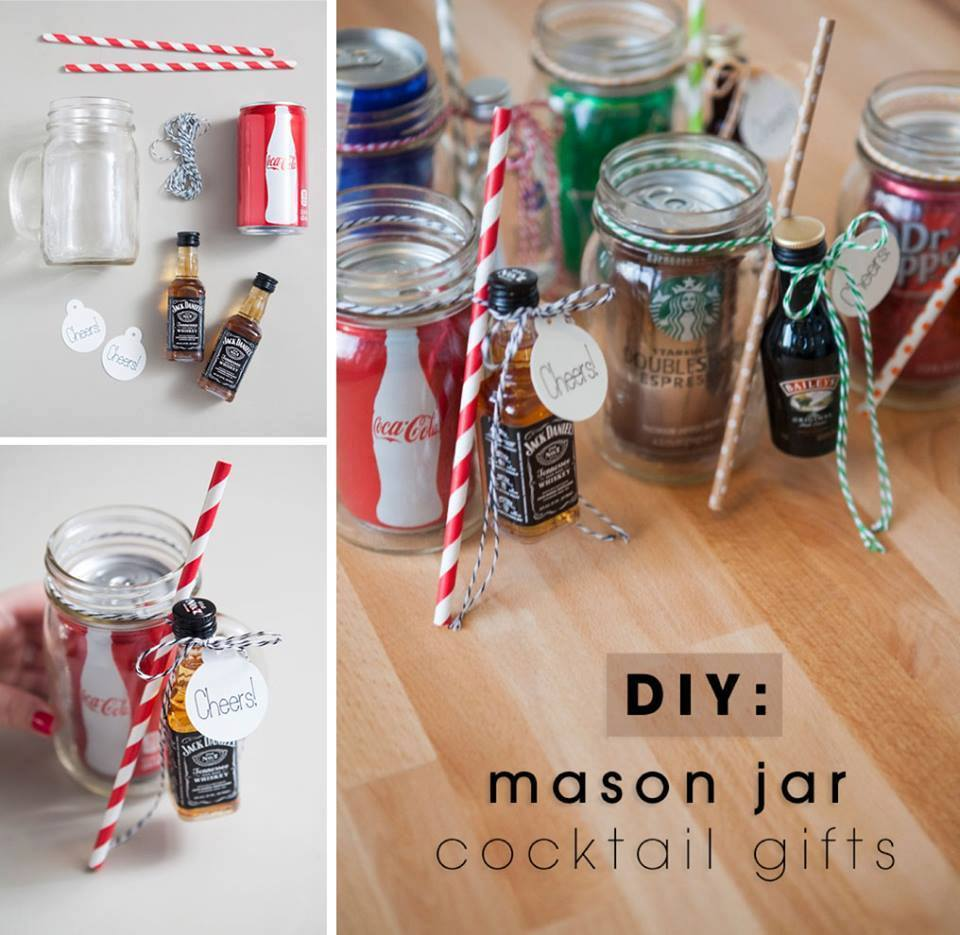 Nice DIY Mason Jar Cocktail Gift For Christmas