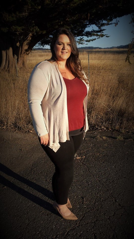 Nice Maroon Top Paired With Jegging And Open Cardigan