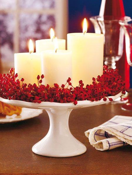Outstanding Decor Of Candles With Flowers