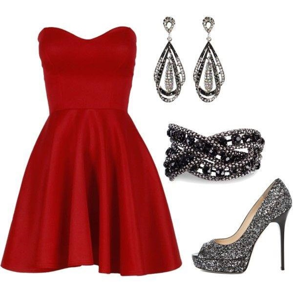 Outstanding Off The Shoulder Red Dress With Open Toe Silver Pumps